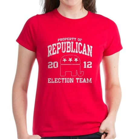 Republican Election Team 2012 Women's Dark T-Shirt