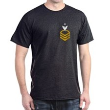 Senior Chief<BR> Black T-Shirt 1