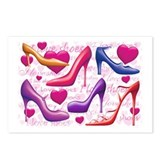 I Love Shoes Postcards (Package of 8)
