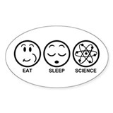 Eat Sleep Science Decal