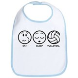 Eat Sleep Volleyball Bib