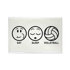 Eat Sleep Volleyball Rectangle Magnet