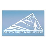 Santa Cruz Mountains Rectangle Decal