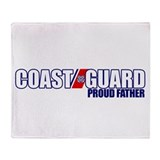 USCG Father Throw Blanket