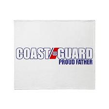 USCG Father Throw Blanket