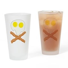 Breakfast Pirate Drinking Glass