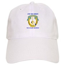 DUI - 4th Sqdrn - 7th Cavalry Regt with Text Baseball Cap