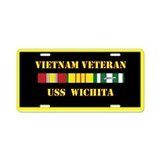 USS Wichita Aluminum License Plate