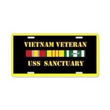 USS Sanctuary Aluminum License Plate