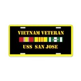 USS San Jose Aluminum License Plate