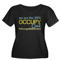 Occupy Cork Women's Plus Size Scoop Neck Dark T-Sh