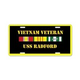 USS Radford Aluminum License Plate