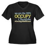 Occupy Clearlake Women's Plus Size V-Neck Dark T-S