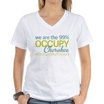 Occupy Cherokee Women's V-Neck T-Shirt
