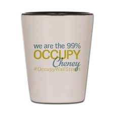 Occupy Cheney Shot Glass