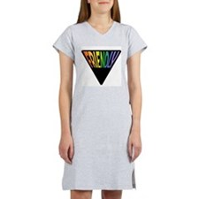 Gay Friendly Rainbow Triangle Women's Nightshirt