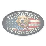Patriotic - Golden Retriever Decal