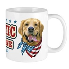 Patriotic - Golden Retriever Mug