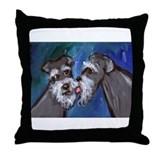 SCHNAUZER kisses schnauzer Throw Pillow
