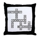 BARTONE SCRABBLE-STYLE Throw Pillow