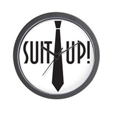 Suit Up! Wall Clock