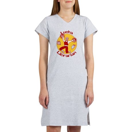 Lucha Librarian Women's Nightshirt