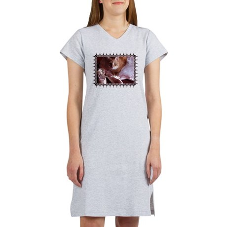 Cat and Ballet Slippers Women's Nightshirt