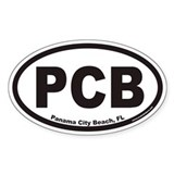 Panama City Beach PCB Euro Oval Decal