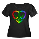 Peace Love and Pot Women's Plus Size Scoop Neck Da