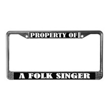 Folk Singer Music License Plate Frame