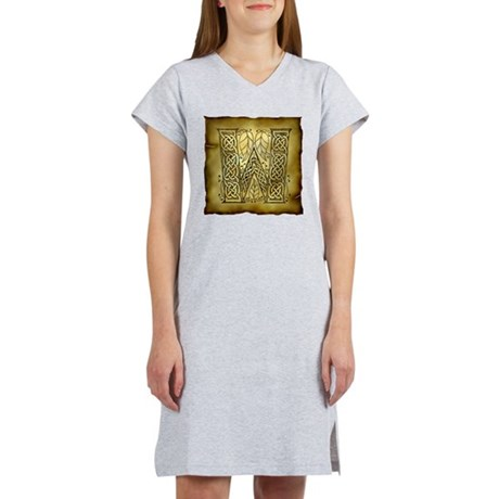 Celtic Letter W Women's Nightshirt