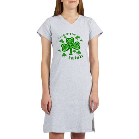 Irish Luck Shamrocks Women's Nightshirt