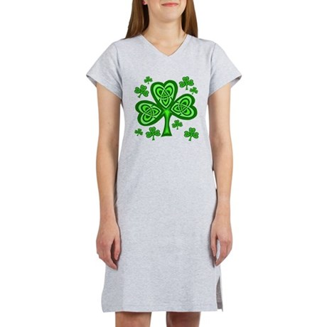 Celtic Shamrocks Women's Nightshirt