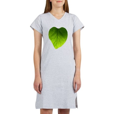 Green Heart Leaf Women's Nightshirt