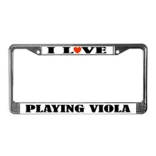 Viola Gift Music License Plate Frame