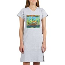 Tie Dye Turtle Watercolor Women's Nightshirt