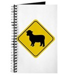 Sheep Crossing Sign Journal