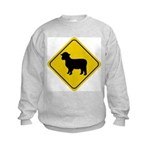 Sheep Crossing Sign Kids Sweatshirt