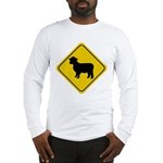 Sheep Crossing Sign Long Sleeve T-Shirt
