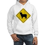 Sheep Crossing Sign Hooded Sweatshirt