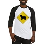 Sheep Crossing Sign Baseball Jersey