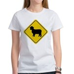Sheep Crossing Sign Women's T-Shirt