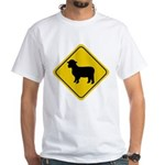 Sheep Crossing Sign White T-Shirt