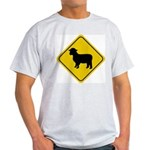 Sheep Crossing Sign Ash Grey T-Shirt