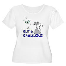 Klit & Kaboodle Wmn's Plus Size Scoop Neck T-S