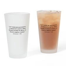 Machinist / Genesis Drinking Glass