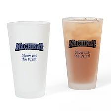 Machinist / Print Drinking Glass