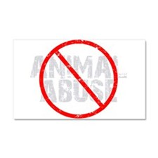 No Animal Abuse Car Magnet 20 x 12