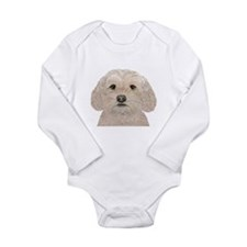 Cockapoo Portrait Long Sleeve Infant Bodysuit