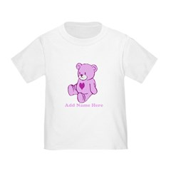 Personalized Cute pink heart T